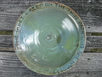 pasta or salad bowl with text
