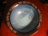 deep soup dish with inscribed text