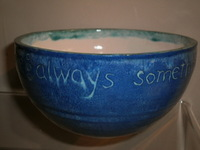 cereal bowl with text