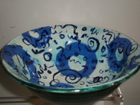 Calligraphy bowl, 8-9"